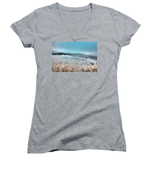 A Frosty Morning On The Palouse Women's V-Neck