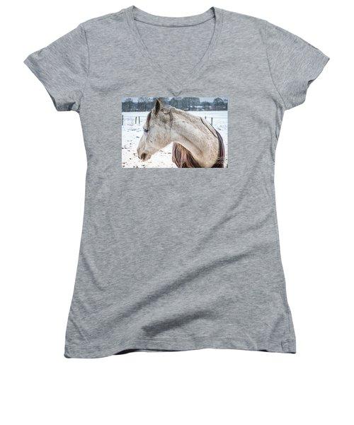 A Girlfriend Of The Horse Amigo Women's V-Neck