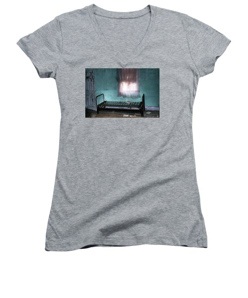 A Glow Where She Slept Women's V-Neck T-Shirt