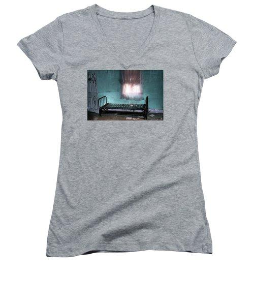 A Glow Where She Slept Women's V-Neck T-Shirt