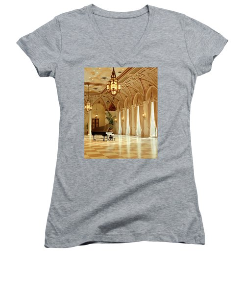 A Grand Piano Women's V-Neck (Athletic Fit)