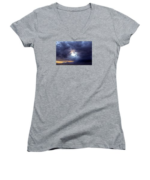 A Hole In The Sky Women's V-Neck (Athletic Fit)