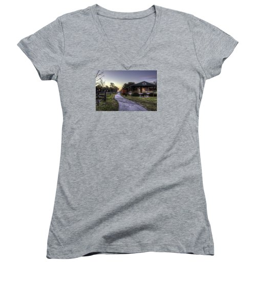A Hometown Christmas Women's V-Neck (Athletic Fit)