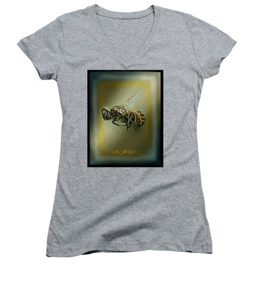 A Humble Bee Remembered Women's V-Neck (Athletic Fit)