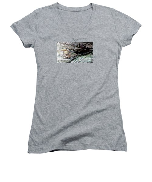 A Hut In The Valley  Women's V-Neck (Athletic Fit)