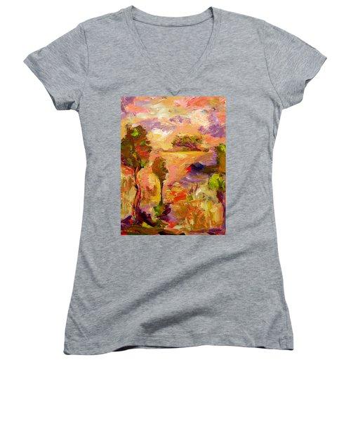 A Joyous Landscape Women's V-Neck