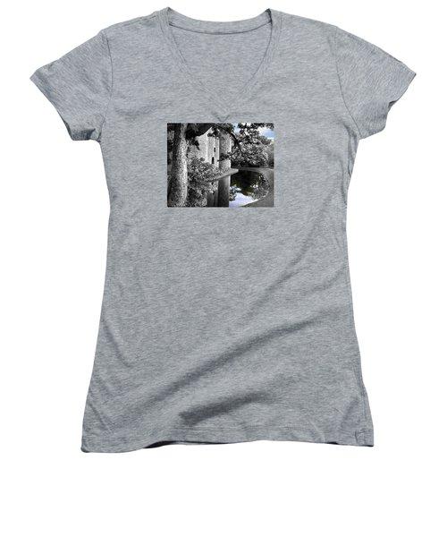 A Knight's Castle In Blue Women's V-Neck T-Shirt
