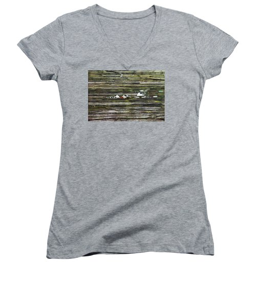 A Landscape With A Farm Women's V-Neck (Athletic Fit)