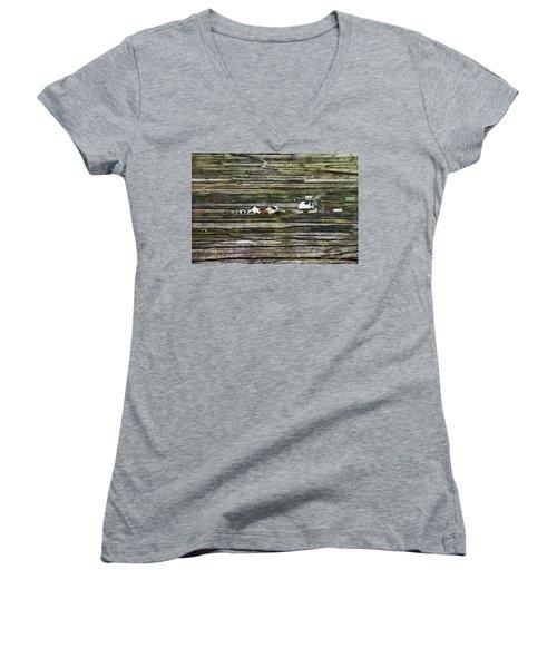A Landscape With A Farm Women's V-Neck T-Shirt