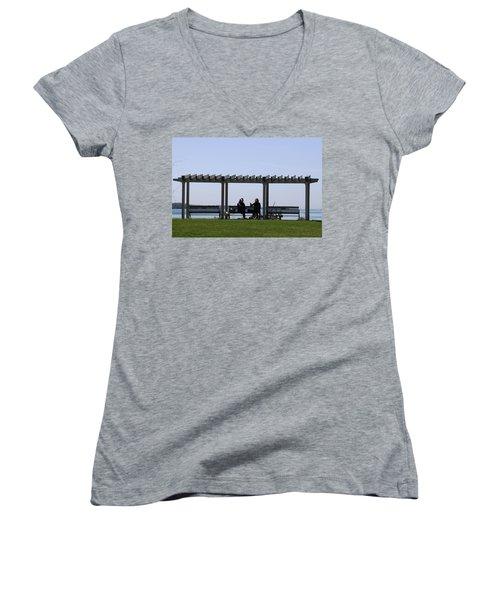 A Lazy Day Women's V-Neck T-Shirt (Junior Cut) by Paul SEQUENCE Ferguson             sequence dot net