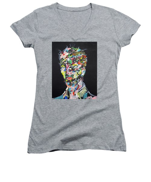 Women's V-Neck T-Shirt (Junior Cut) featuring the painting A Life Full Of Oppurtunities by Fabrizio Cassetta