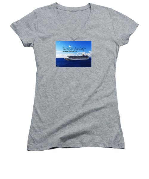 A Life Journey Women's V-Neck T-Shirt