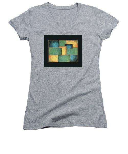 A Light Well Women's V-Neck T-Shirt (Junior Cut) by Deborah Smith