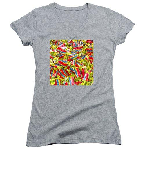 A Little Bit O Honey Women's V-Neck T-Shirt (Junior Cut) by Beth Saffer