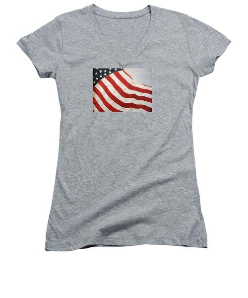 A Little Glory Women's V-Neck T-Shirt (Junior Cut) by Carol Sweetwood