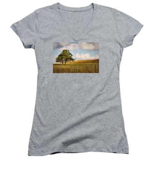 A Little Shade Women's V-Neck T-Shirt (Junior Cut) by Lana Trussell