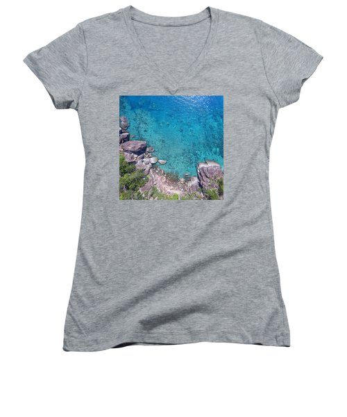 A Little Square Of Paradise  Women's V-Neck (Athletic Fit)
