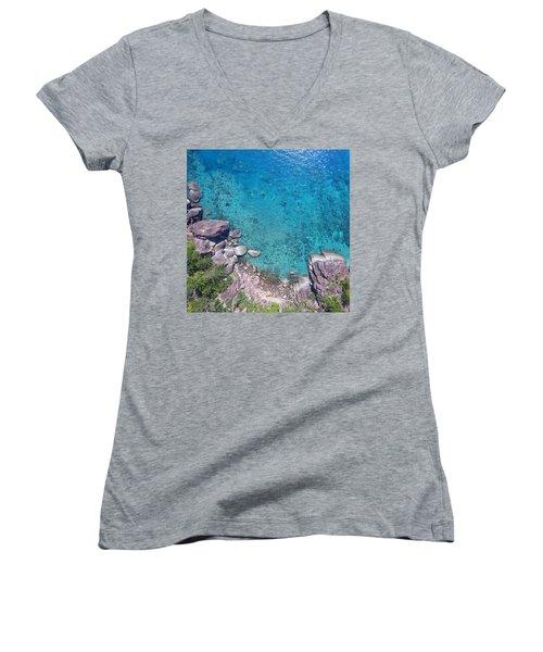 A Little Square Of Paradise  Women's V-Neck T-Shirt