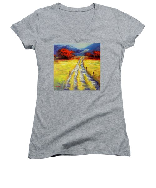 A Long Journey Women's V-Neck (Athletic Fit)