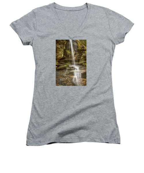 A Look At Window Falls Women's V-Neck T-Shirt
