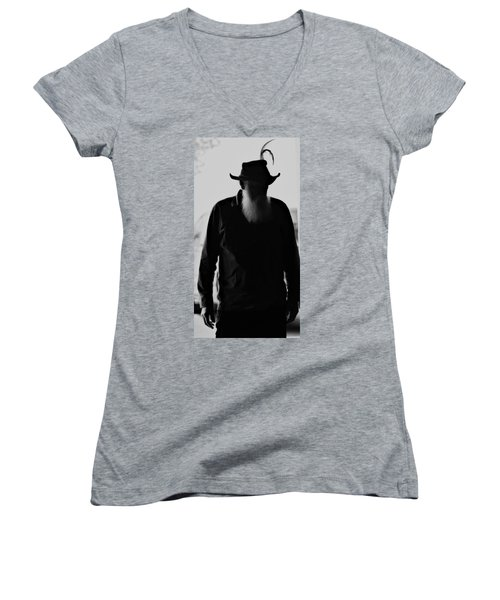 A Man Of Few Words Women's V-Neck (Athletic Fit)