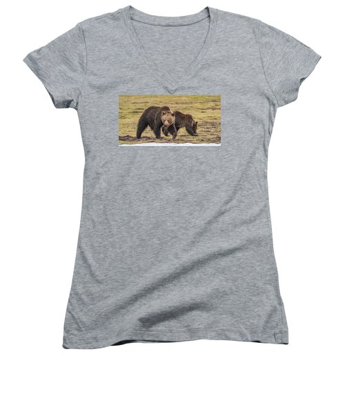 A Mini-mom And Yearling Women's V-Neck (Athletic Fit)