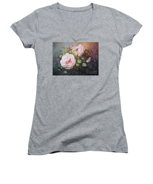 A Moment In Time Women's V-Neck (Athletic Fit)