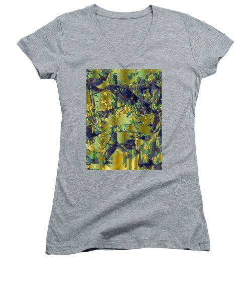 The Sweet Confusion Women's V-Neck T-Shirt (Junior Cut) by Moustafa Al Hatter