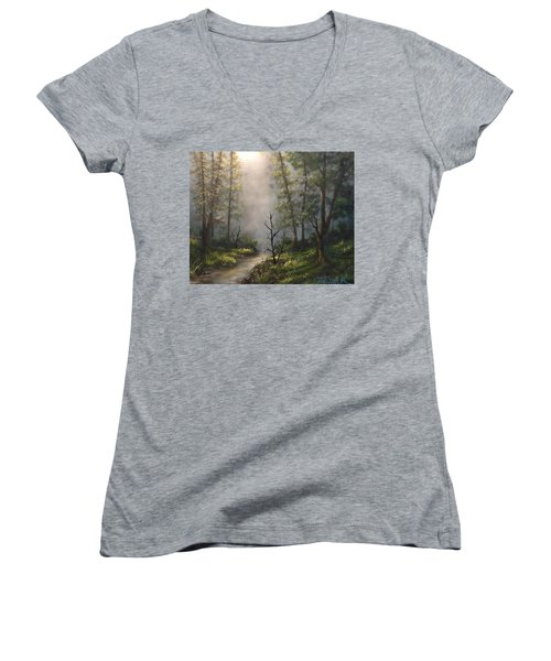 A New Day  Women's V-Neck T-Shirt