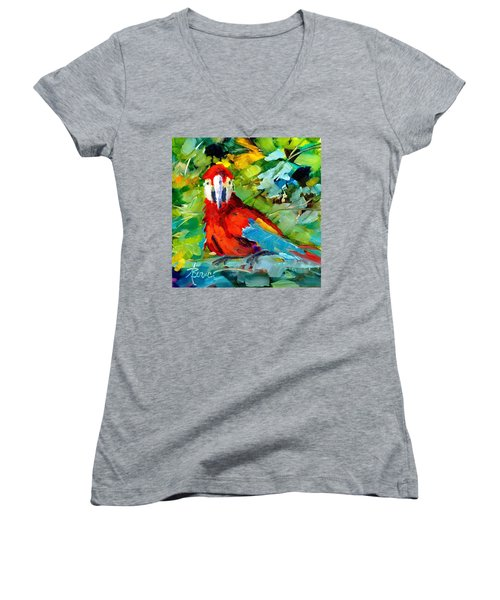 Papagalos Women's V-Neck