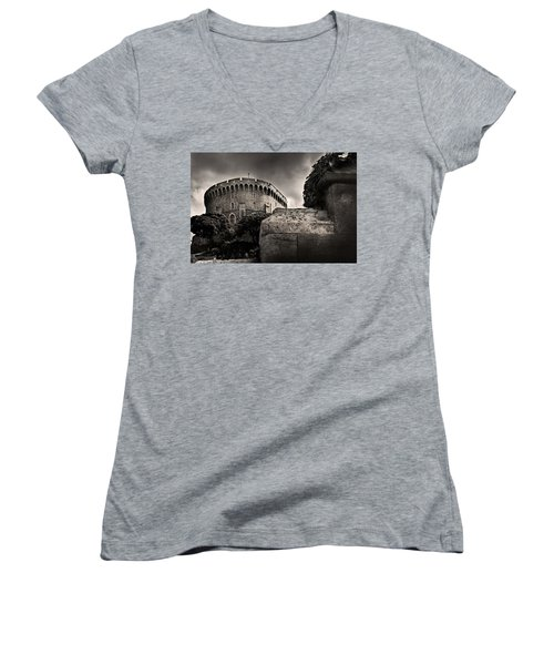 A Peak At The Tower Pictorial Women's V-Neck