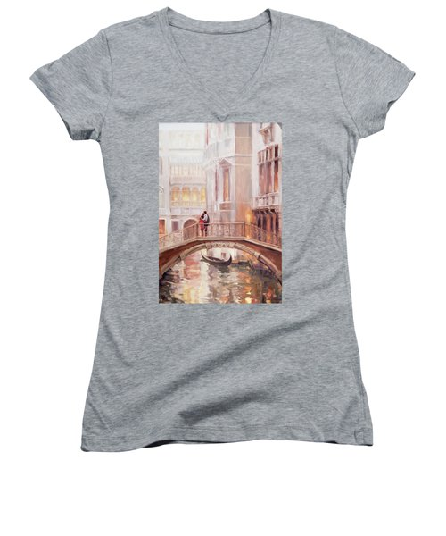 A Perfect Afternoon In Venice Women's V-Neck
