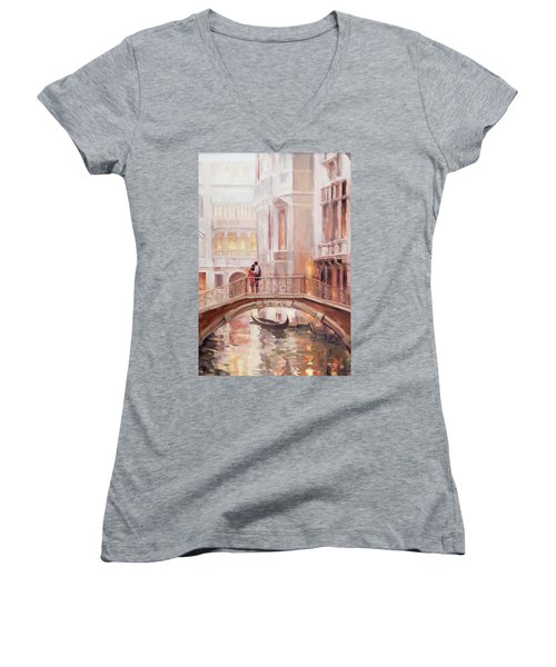 A Perfect Afternoon In Venice Women's V-Neck (Athletic Fit)