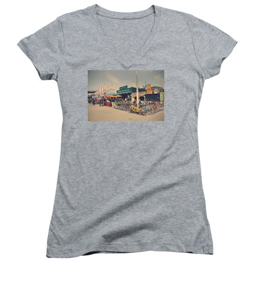 A Perfect Day For A Ride Women's V-Neck T-Shirt (Junior Cut) by Laurie Search