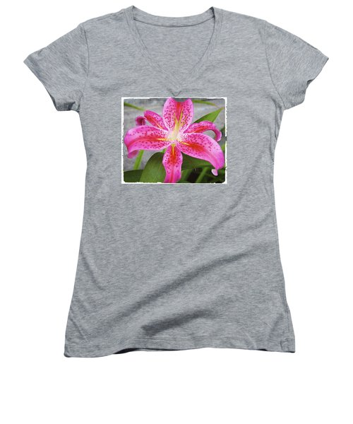 A Pink So Vivid I Can Almost Taste It Women's V-Neck (Athletic Fit)