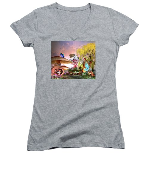 A Pixie Garden Women's V-Neck (Athletic Fit)