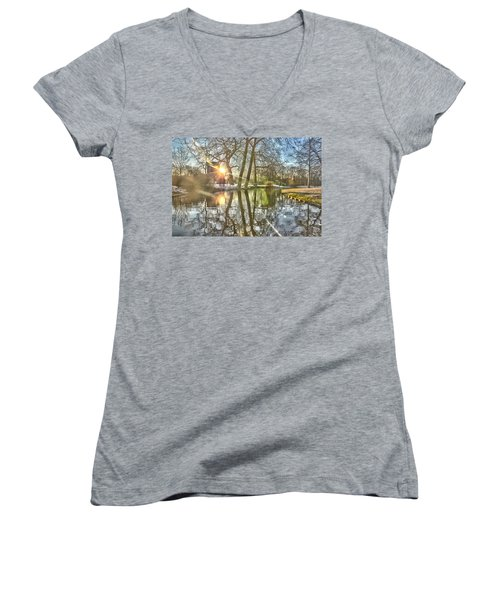 A Pond In Rotterdam Women's V-Neck