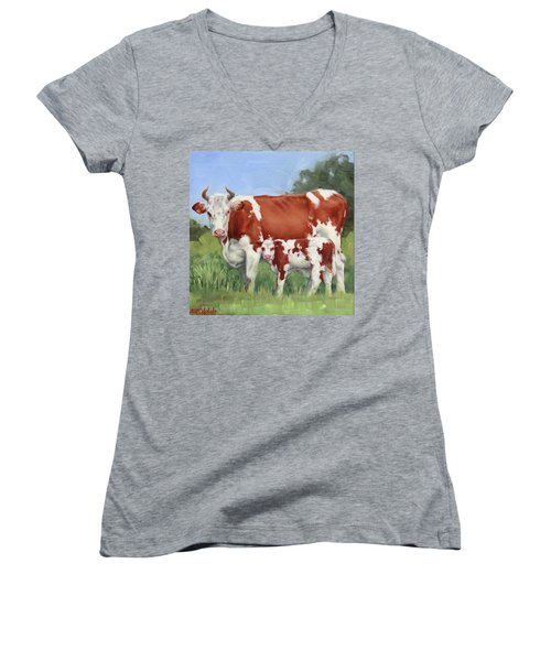 A Pretty Pair Miniature Painting  Women's V-Neck (Athletic Fit)