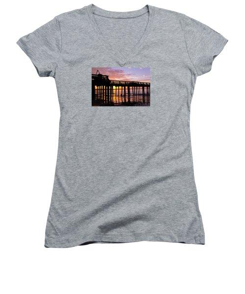 A Quiet And Beautiful Start Women's V-Neck T-Shirt (Junior Cut) by Lora Lee Chapman