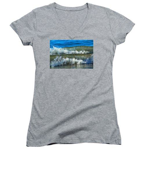 A Race For Non-existence, Point Reyes National Seashore, Marin C Women's V-Neck T-Shirt (Junior Cut) by Wernher Krutein