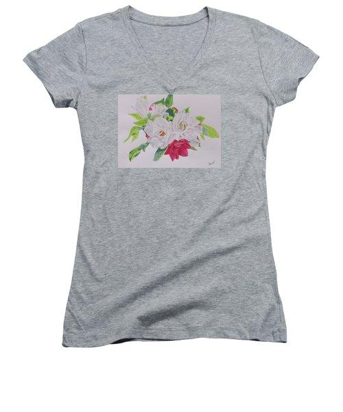A Rose Bouquet Women's V-Neck T-Shirt