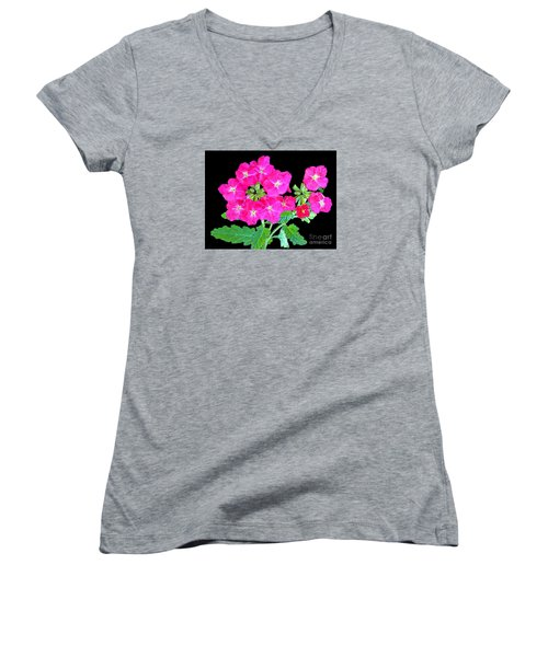 Women's V-Neck T-Shirt (Junior Cut) featuring the photograph A Ring Of Verbena by Merton Allen