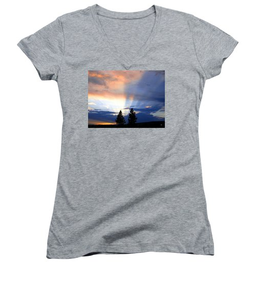 A Riveting Sky Women's V-Neck