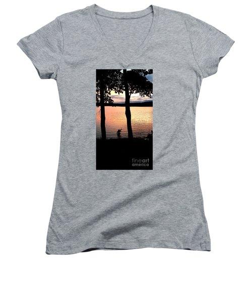 A Romantic Point Of View Women's V-Neck T-Shirt (Junior Cut) by Scott D Van Osdol