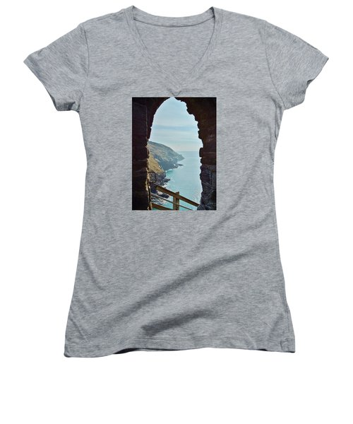 A Room With A View Women's V-Neck T-Shirt (Junior Cut) by Richard Brookes
