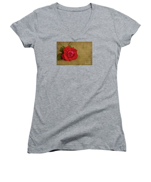 A Rose By Any Other Name Women's V-Neck T-Shirt (Junior Cut) by Lena Auxier