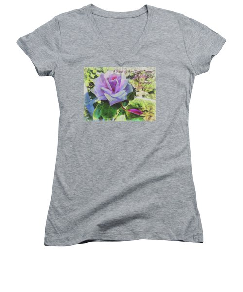 A Rose By Any Other Name Women's V-Neck T-Shirt (Junior Cut)