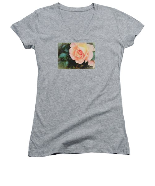 A Rose For Kathleen Women's V-Neck T-Shirt (Junior Cut) by Janice Rae Pariza