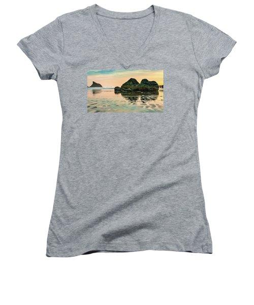 A Scene From The Beach Women's V-Neck T-Shirt