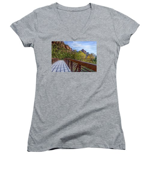 A Scenic Hike Women's V-Neck